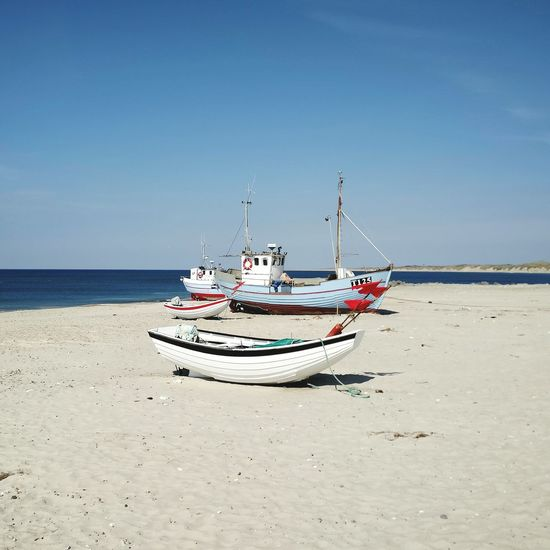 Beach Sun Boats Fishingboat Danmark Europe Northsea Scandinavia Goodlife