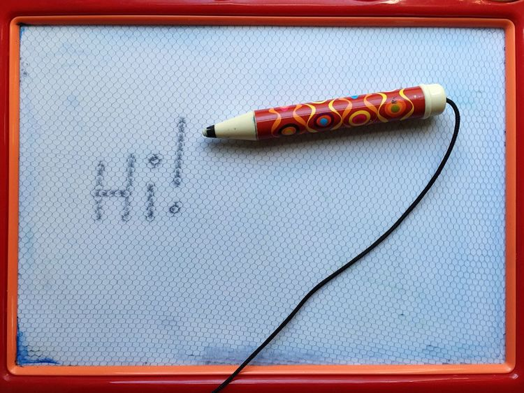 Word Toy Photography Toy Magnetic Hello Red Orange Pen Hi :) Youthful Memories Childs Play Childs Toy Simple Simplicity Words Funtimes Writing Instrument Writing Draw Drawing - Activity Magnetic Words Learning