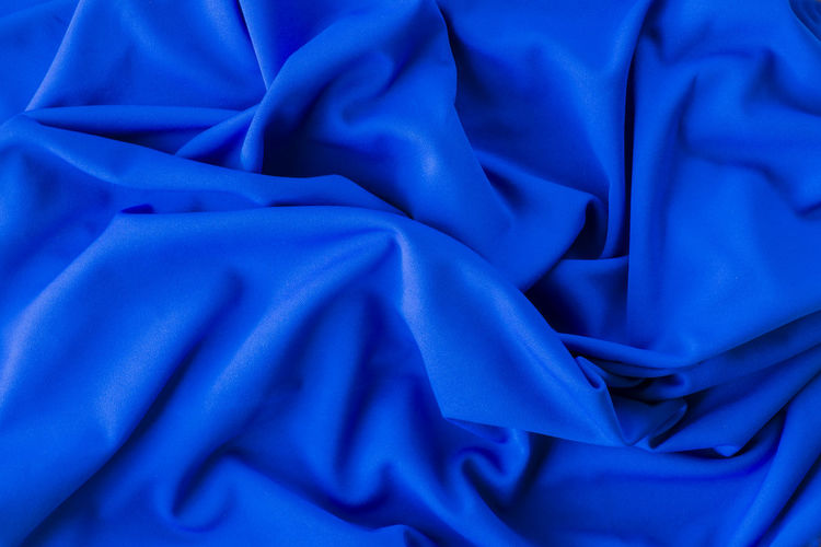 Abstract Backgrounds Blue Close-up Crumpled Day Fabric Folded Full Frame Material No People Rippled Satin Silk Softness Textile Texture Wrinkled