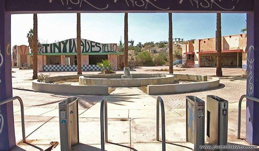 Dried up Abandoned California Urbanexploration Urbex Abandonedplaces Lakedolores Picoftheday Newberrysprings Abandonedcalifornia Abandonedamerica Rockahoola Photography Amazingplaces Waterpark Mojave MojaveDesert Abandonedbuilding Signofthetimes Fountain
