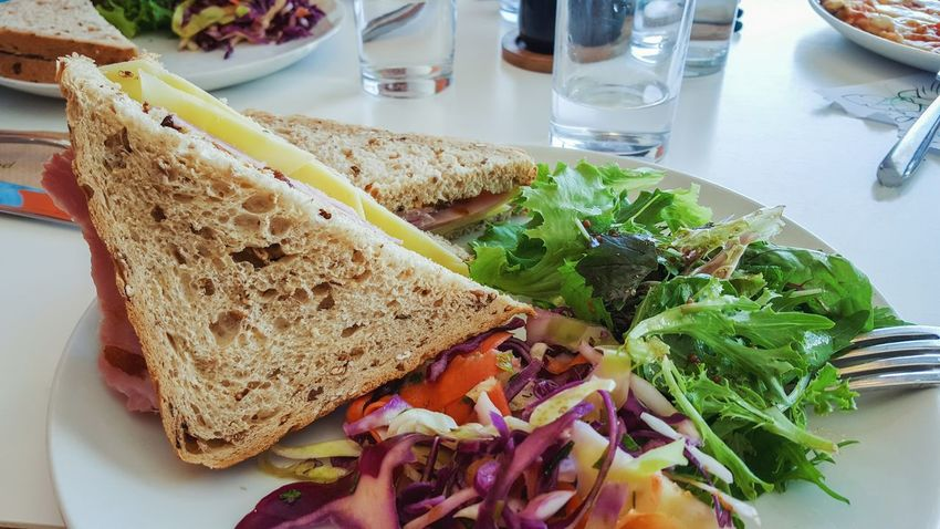Ham Lunch Snack Bread Cheese Chutney Close-up Food Food And Drink Healthy Eating High Angle View Indoors  Lettuce No People Pickle Plate Ready-to-eat Salad Sandwich