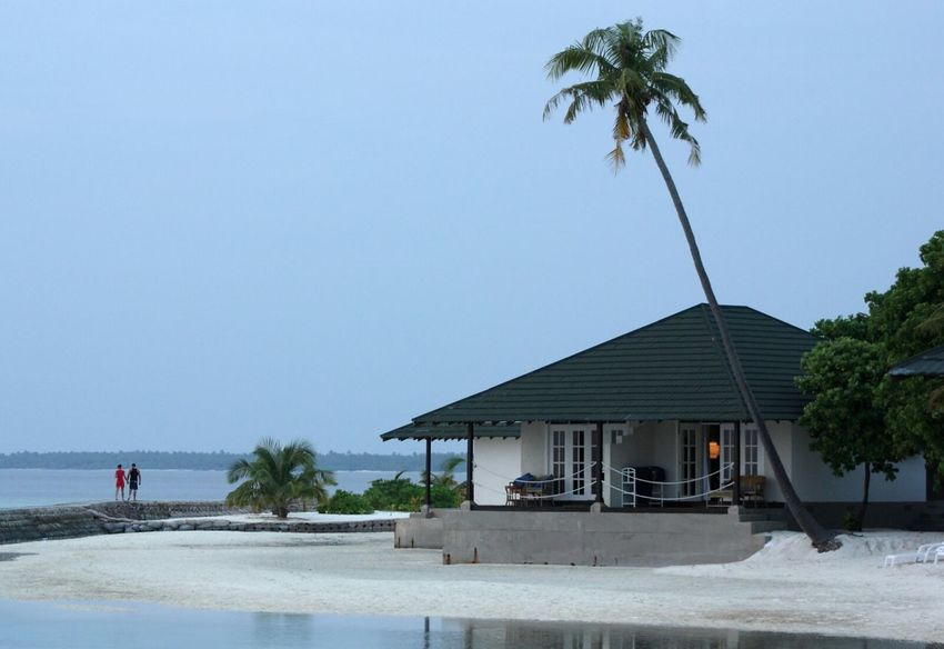 Beach Couple House Seaside Palm Tree Sea And Sky Resort