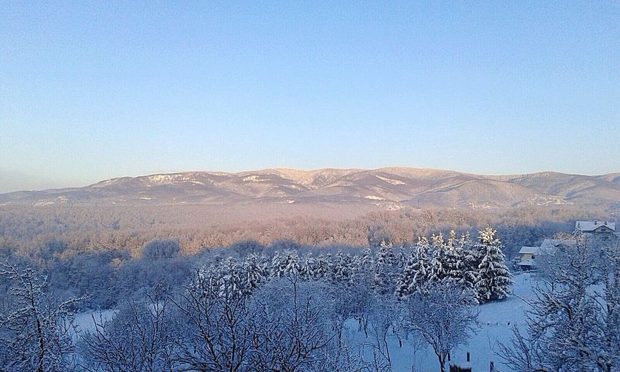 Winter Clear Sky Mountain Beauty In Nature Medvednica Hill Zagreb Croatia 2017☺...
