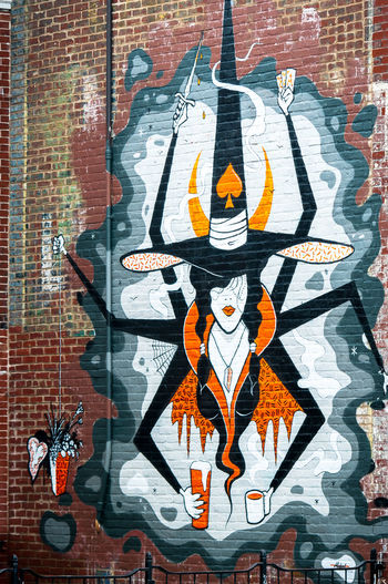 Richmond, VA USA Street Art Art Creativity Halloween Multi-Talented Richmond, VA Wall Art Witch Witches Brew