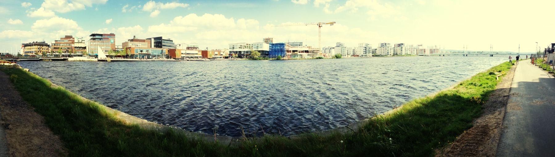 A city in progress. Buildings My Hometown Munksjön Hello World
