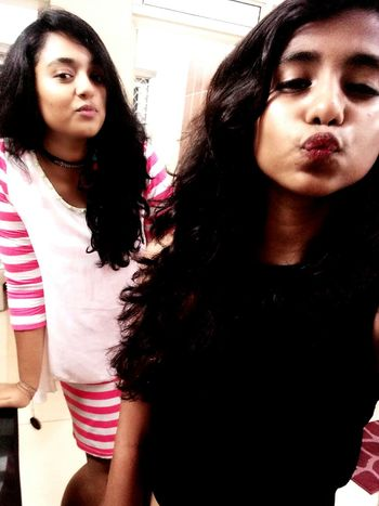 Pout, if god has given you lips... EyeEm Selects Young Women Friendship Togetherness Two People Front View People Young Adult Indoors