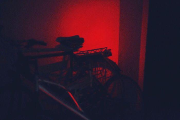 Indoors  Red Silhouette Night No People Illuminated