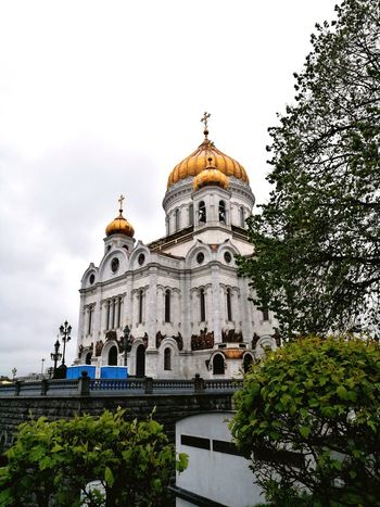 Cathedral Of Christ The Savior Moscow Russia Architecture Religion Sky Outdoors City Day Built Structure Spirituality