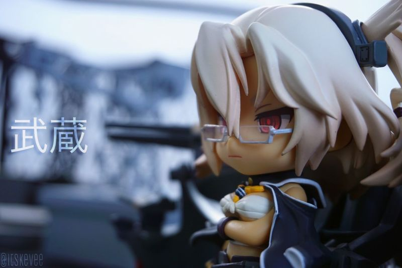Anime Beauty In Nature Close-up Darkskin Eyes Focus On Foreground Glasses Kancolle Kantai Collection Kantaicollection Large Group Of Objects Man Made Object MUSASHI Nendoroid No People Tanned