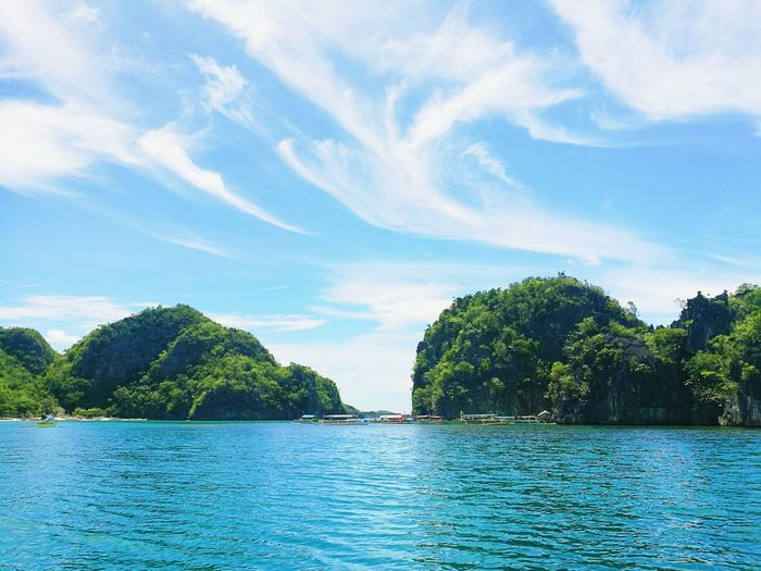 Water Tree Summer Nature Outdoors Scenics Beach No People Beauty In Nature Rock Formations Boats And Water Caramoan Island, Camarines Sur Philippines The Great Outdoors - 2017 EyeEm Awards