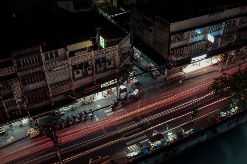 Thai Night Canon80d Bangkok Thailand Building Exterior Built Structure Night City Architecture Transportation Illuminated Crowd Street Large Group Of People High Angle View Road Communication Sign Mode Of Transportation Lighting Equipment Motor Vehicle Group Of People Text Car