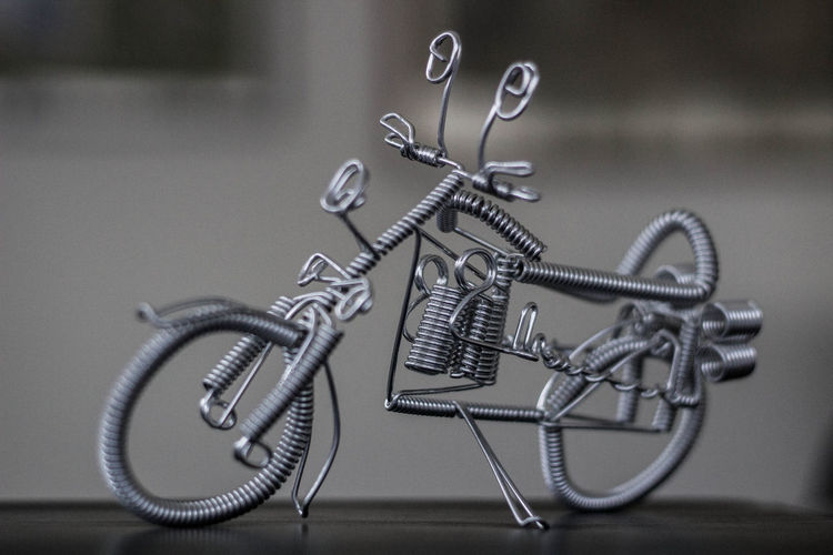 Close-Up Of Model Motorcycle