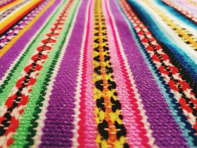 Manto Multi Colored Textile Cultures No People Backgrounds Close-up Full Frame