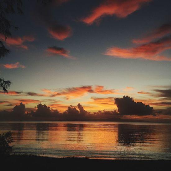 NICE TIME Sunset Sky Sea