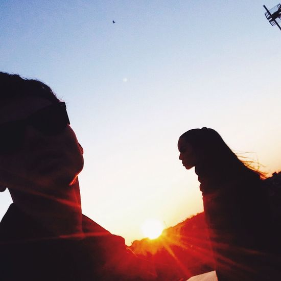 Sunset is still my favorite color and rainbow is second. Sunset Love Couple Rayban
