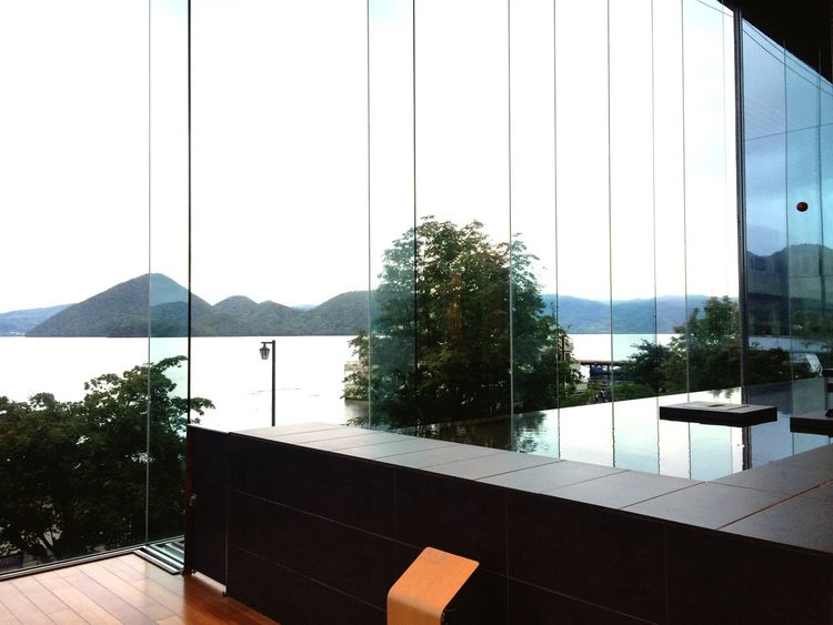 Window No People Luxury Wealth Architecture Day Tree Indoors  Swimming Pool Mountain Modern Built Structure Nature Water Clear Sky Sky Touya Hokkaido Japan