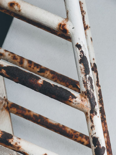 Rusty Girder Backgrounds Close-up Sky Architecture Weathered Peeling Off