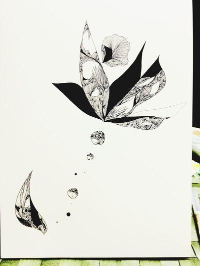 Flower Drawing Art in Tokyo