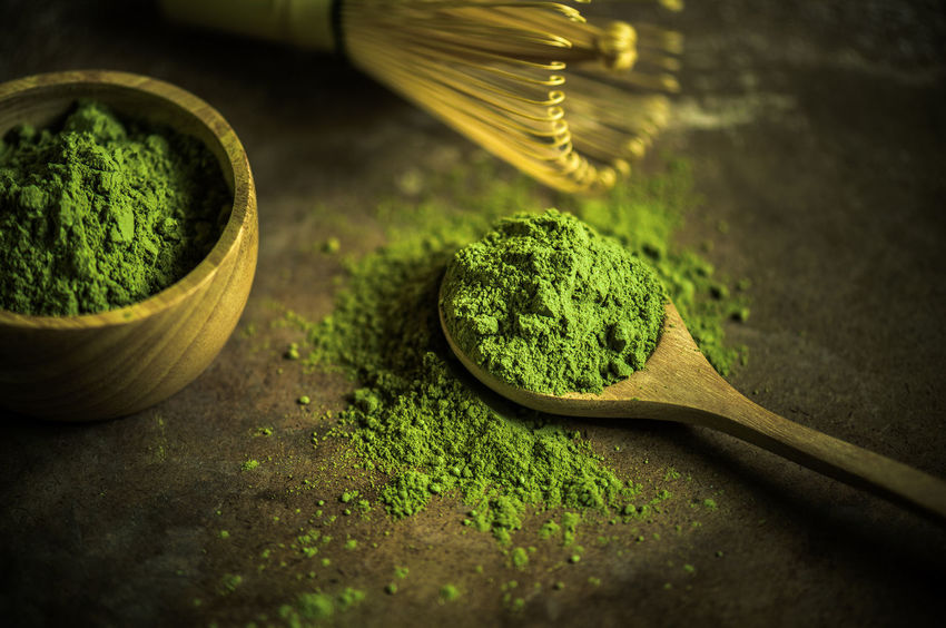 Matcha green tea Tea Close-up Eating Utensil Food Food And Drink Freshness Green Color Green Tea Ground - Culinary Herb Household Equipment Indoors  Kitchen Utensil Matcha Green Tea Matcha Tea No People Plant Selective Focus Spice Spoon Still Life Wellbeing Wood - Material Wooden Spoon