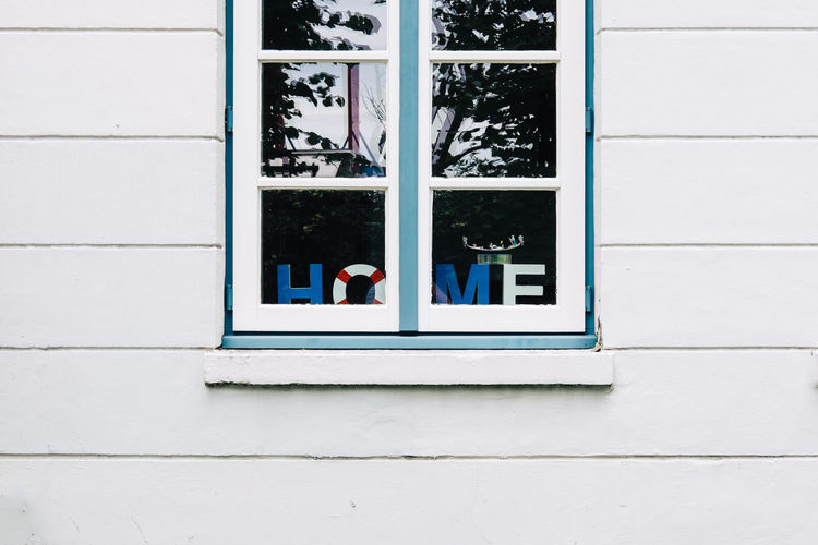 Cropped View Of Window On House
