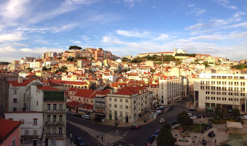 Portugal Lisboa Europe Lisbon City Urban Panorama Alfama View City View  Blue Sky