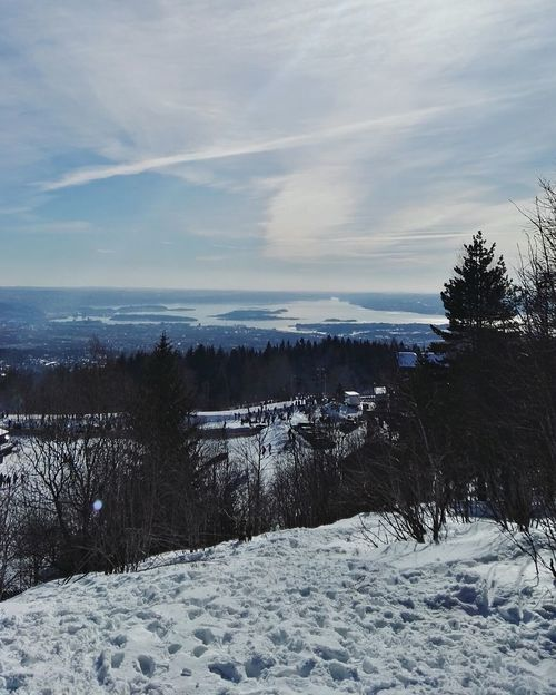 Cold Temperature Snow Outdoors Sea Winter Sky Nature Tree Scenics No People Sunset Day Beauty In Nature Beach Holmenkollen Nature Winter