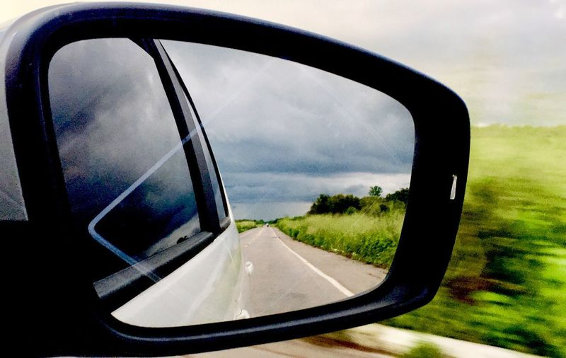 Transportation Motor Vehicle Car Road Side-view Mirror Sky Land Vehicle Cloud - Sky Tree Nature