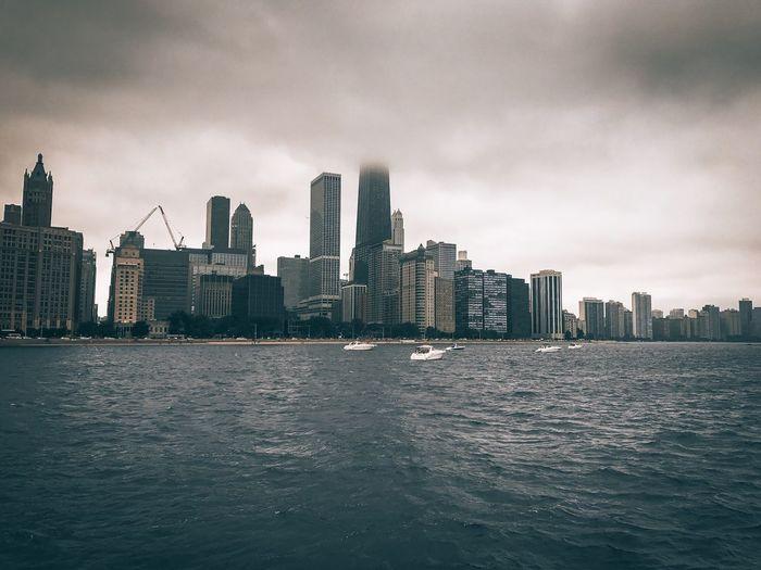 Chicago Cityscape City Life City View  Skyscraper Architecture Beautiful View Scenery Scenic Shore ChiTown Urban Skyline