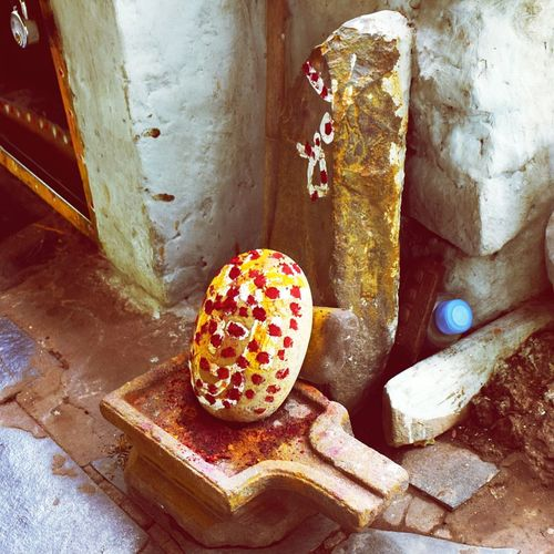 EyeEm Selects High Angle View No People Outdoors Day Shiva Shiva Temple Lingam Ruined Srisailam Inside Forest