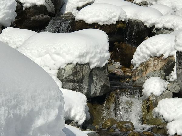 Close-up Winter Snow Beauty In Nature Outdoors Cold Day No People Creekside Photography Water Flowing Water Brook