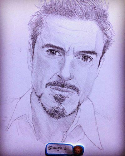 Drawing ArtWork Hello World Art, Drawing, Creativity MyDrawing Ironman ロバートダウニージュニア Robert Downey Jr.