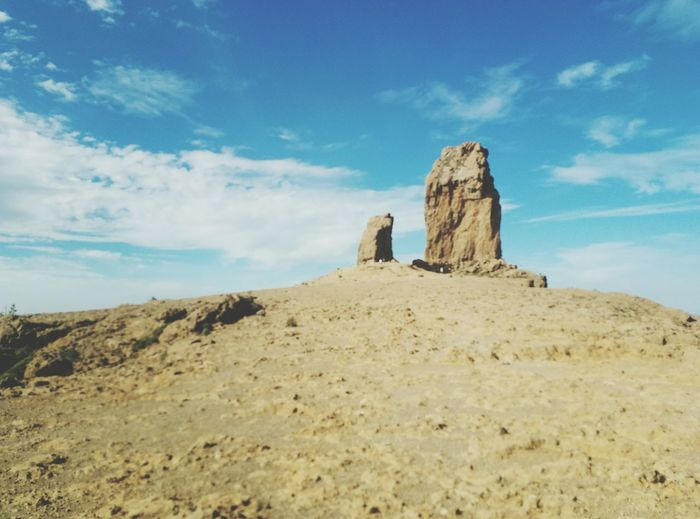 EyeEm Selects Rock - Object Landscape Travel Destinations Cloud - Sky Scenics Beauty In Nature Outdoors Nature Blue Day Roque Nublo Gran Canaria