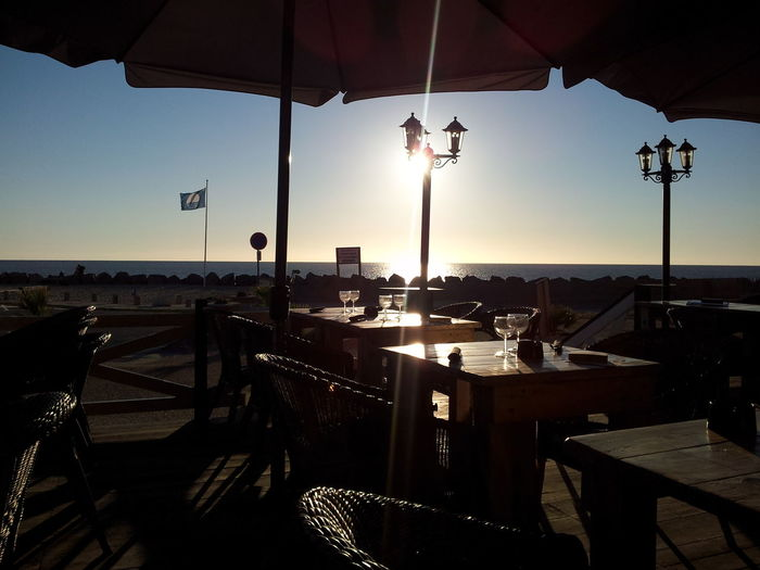 Beach Beautiful Place France Light And Shadow Peace And Quiet Restaurant Soulac Sur Mer Sunset Table Landscapes With WhiteWall