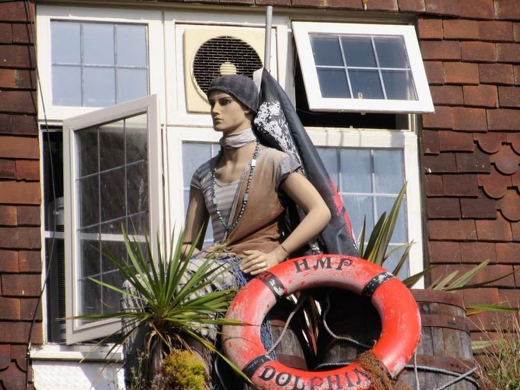 Building Exterior Day Fisher Village Good Luck Charm Marina Outdoors Period Costume Statuette Traditional Clothing Uk