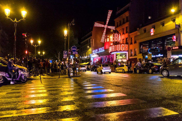 Paris ❤ Paris Paris By Night Moulin Rouge Cities At Night Streetphotography Reflection Big City Lights Montmartre 43 Golden Moments