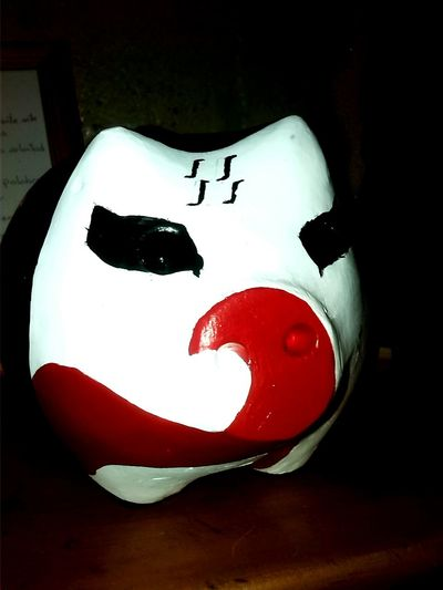 ! A Ahorrar! Pigs Chanchitos Adornos Rojo Y Negro Red Saving Ornaments Art Pintando Pintar Color Portrait Paintings
