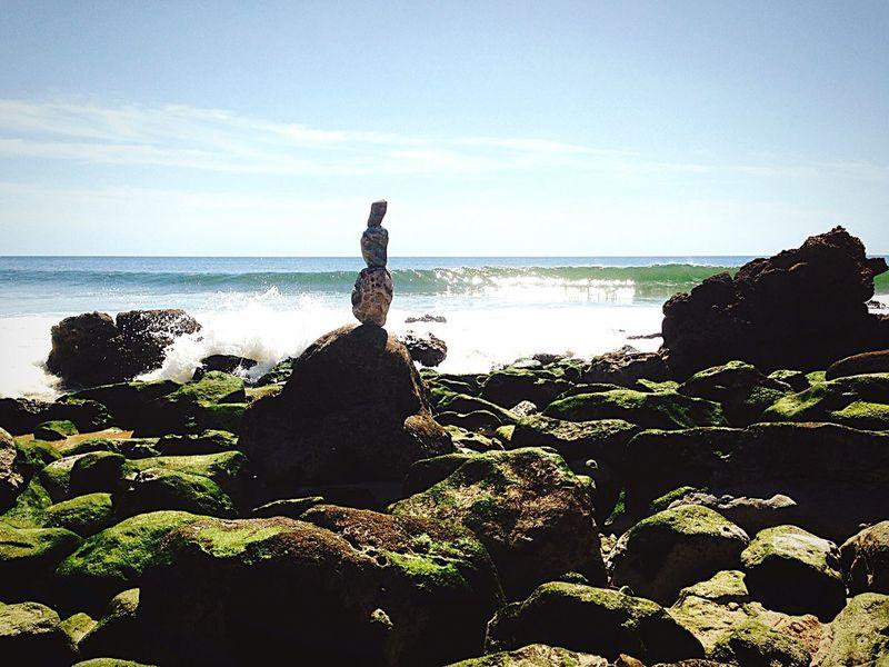 Rockstanding Lazy Chilling Beach Djizle Algarve Rockbalancing Balance