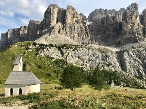 Dolomites, Italy Architecture Built Structure Mountain Plant Sky Nature Rock Building Scenics - Nature Beauty In Nature Spirituality Mountain Range Land