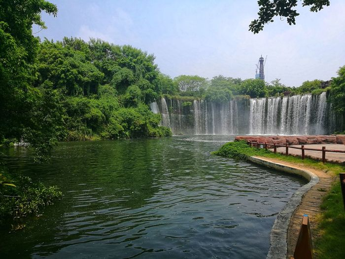 China PhonePhotography Spraying Motion Splashing Irrigation Equipment Day Waterfall Nature No People Beauty In Nature Sky