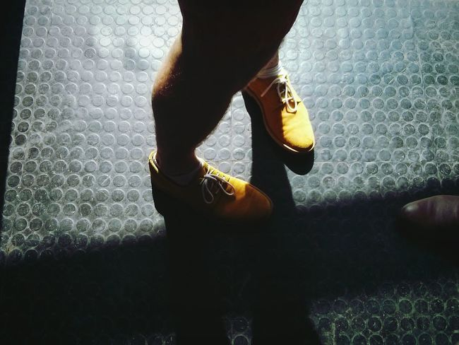 Party Time! Nice Shoes Yellow Creative Light And Shadow