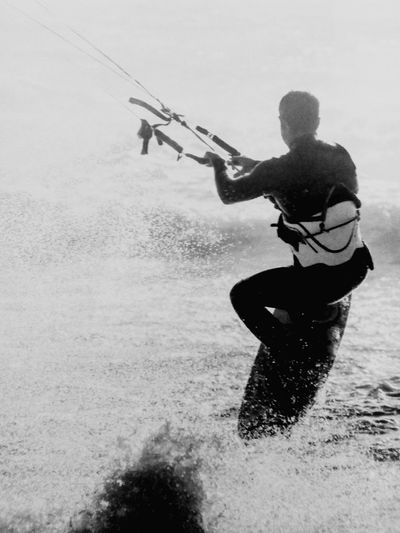 Black And White Photography Wind Surfer Sport Adventure Adult