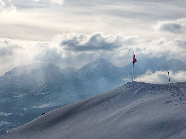 Schweizer Flagge Oberengadin Engadin Nature Landscape_photography Landscape_Collection Winterlandscape Clouds And Sky Schweiz Mountains Schweizer Alpen Switzerland Naturelovers Winter Alpen Snow Pastel Colors Pastel Power Berge Winterlandschaft