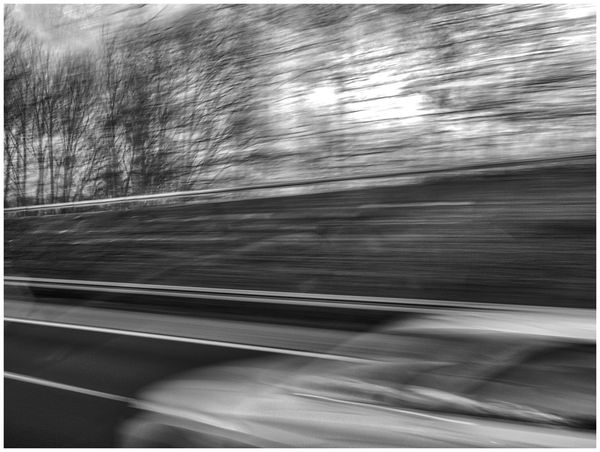 on the road Black & White Blurred Motion Car Driving Driving Fast Fast Motion Highway Light And Shadow Motion On The Move On The Road Reflection Road