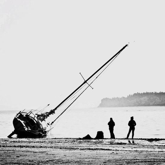 IPhoneography Port Townsend Monochrome Beach Lowtide  Silhoutte Blackandwhite IPSSquare