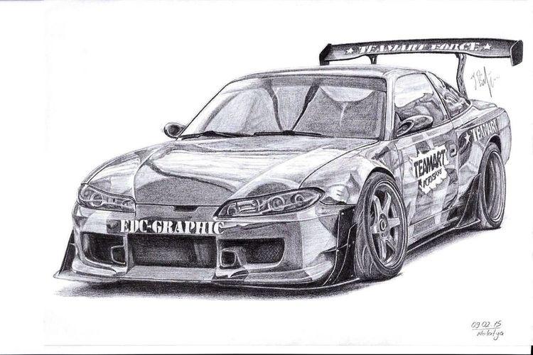 Nissan Nissan S14 Nissan Silvia S14 Dreamstudioworks Traditionalart Faik05 Faikbilgin Teamartcarbon Edcgraphic