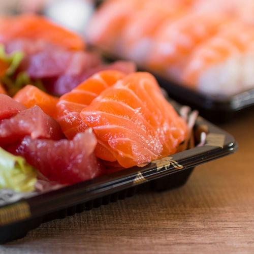 Sashimi Composition Eat Fish Food Foodphotography Healthy Eating Healthy Lifestyle Japan Japan Culture Japan Food Organic Oriental Food  Preparation  Raw Salmon Sashimi SLICE Sushi Sushi Time Table Take Away Temptation Tray Tuna Variation