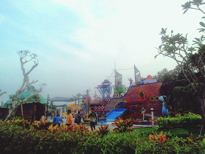 Little shiny Citragrandmutiarawaterpark Yogyakarta Swimming Dusk