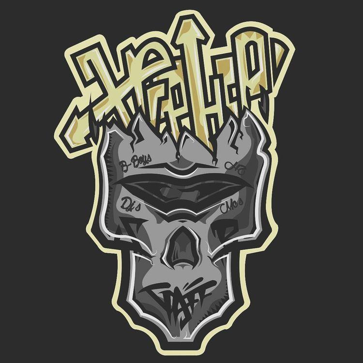 H2 HipHop Lowlife Street Pudahuel Chile Santiago H2 SB Gold Illustrator