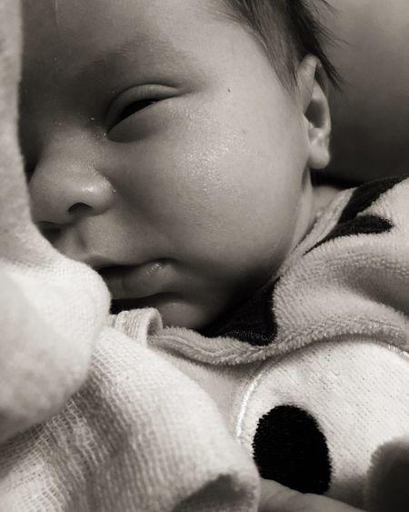 Newborn Mysweet Littlelove Dailybaby Perfectson Myson Lovehim Mommysboy Peekaboo First Eyeem Photo
