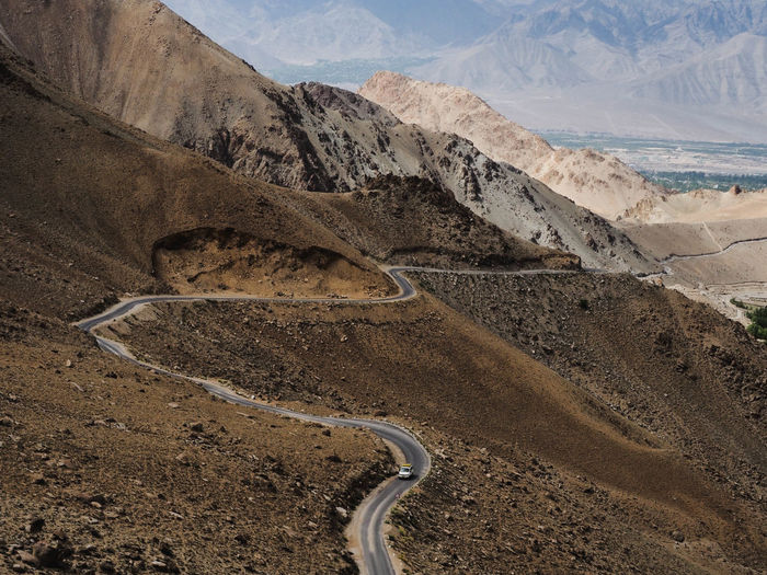 Road Beautiful. India Travel Travel Photography Beauty In Nature Day Desert Environment High Angle View Land Landscape Leh Mountain Mountain Range Mountain Road Nature No People Non-urban Scene Photography Road Scenics - Nature Tranquil Scene Tranquility Transportation